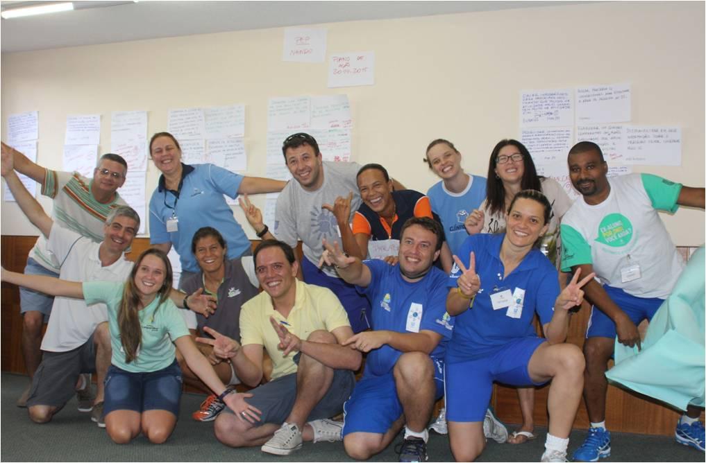 Satisfeita, equipe termina o PEP com muitos desafios e muito trabalho.